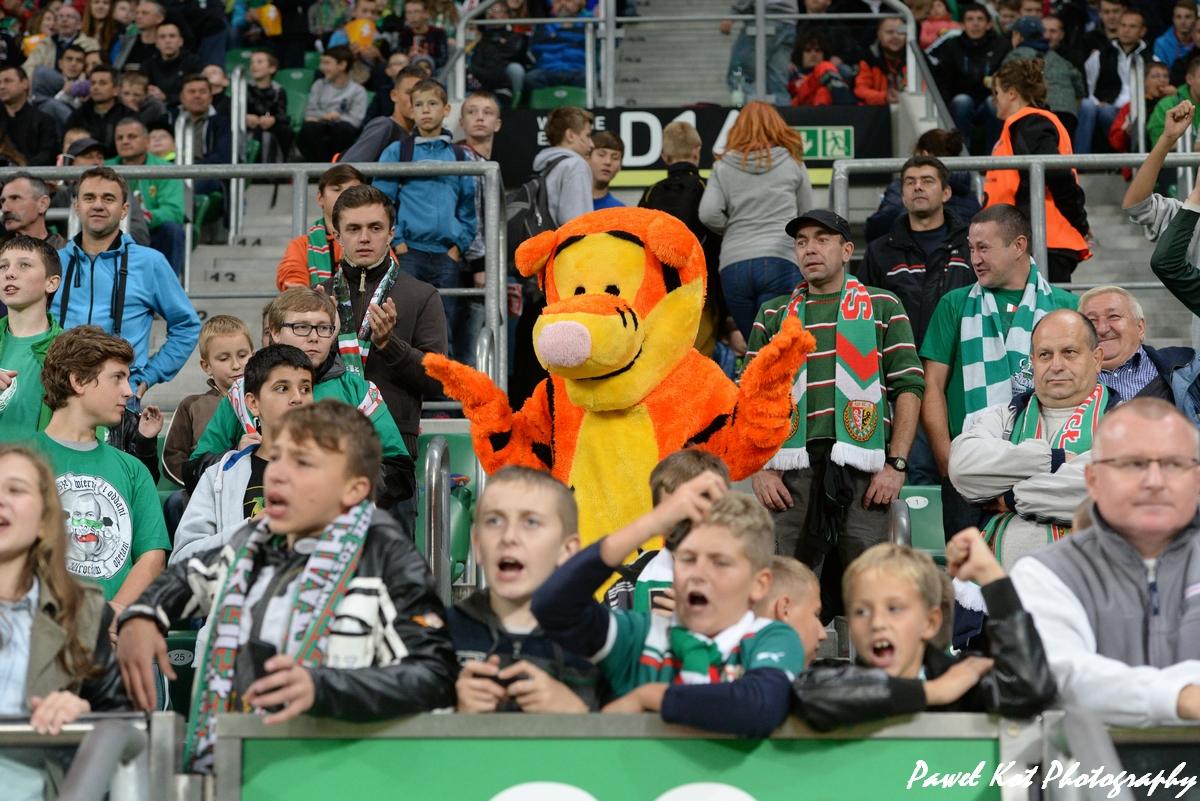 Śląsk Wrocław dzieci na stadionie